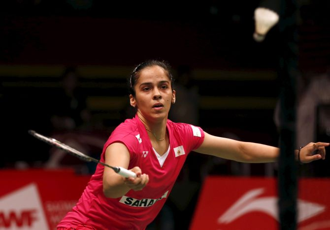 Rediff Sports - Cricket, Indian hockey, Tennis, Football, Chess, Golf - Asia Badminton C'ship: Saina seals semi-final spot