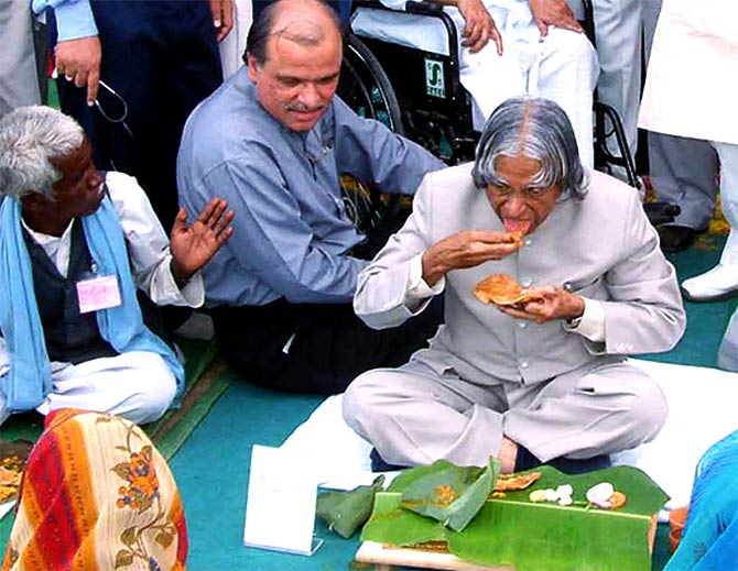 S M Khan with President Kalam