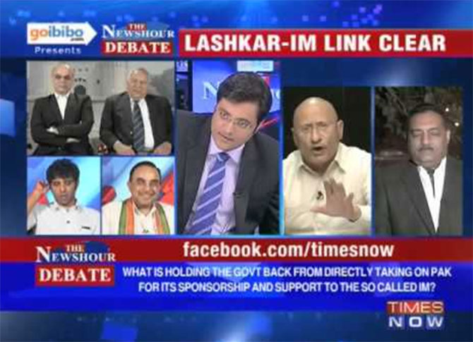 Arnab Goswami drives his Pakistani guests to apoplexy.