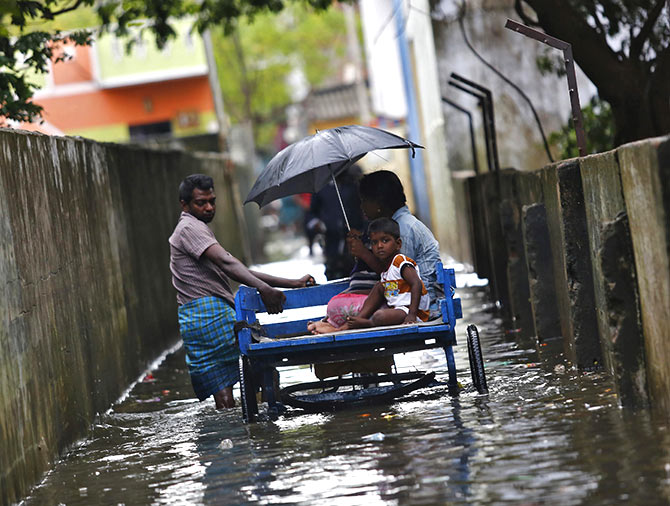 The flooded streets of Chennai
