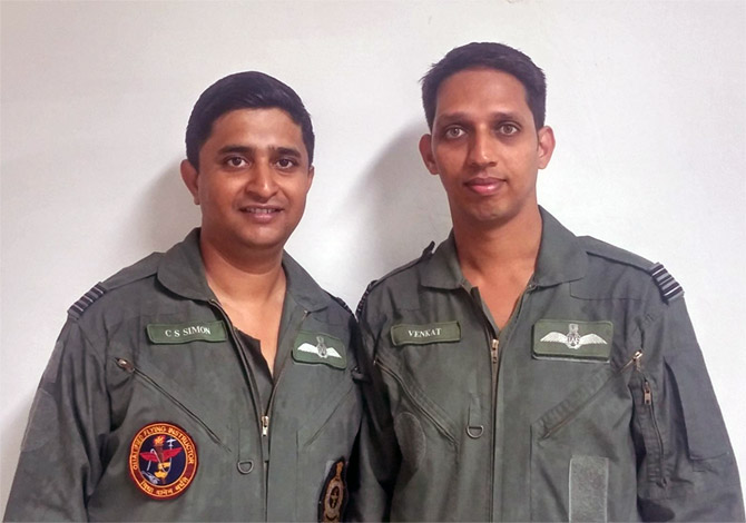 Wing Commander C A Simon and Squadron Leader R Venkatramanan