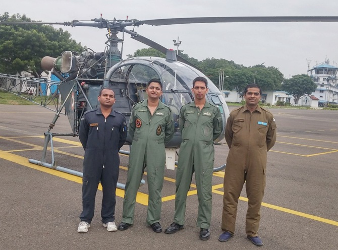 The Air Force men who rescued a pregnant woman in Chennai rains
