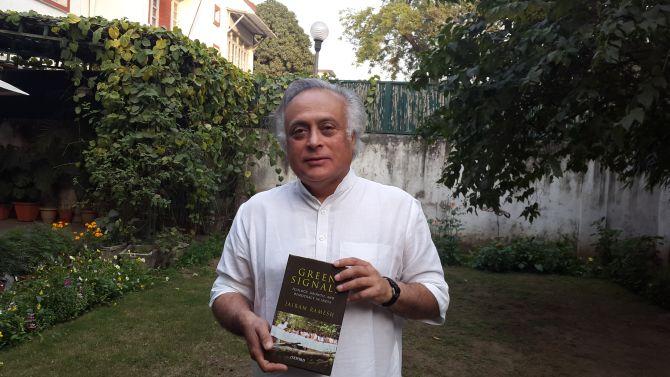 Jairam Ramesh with his new book