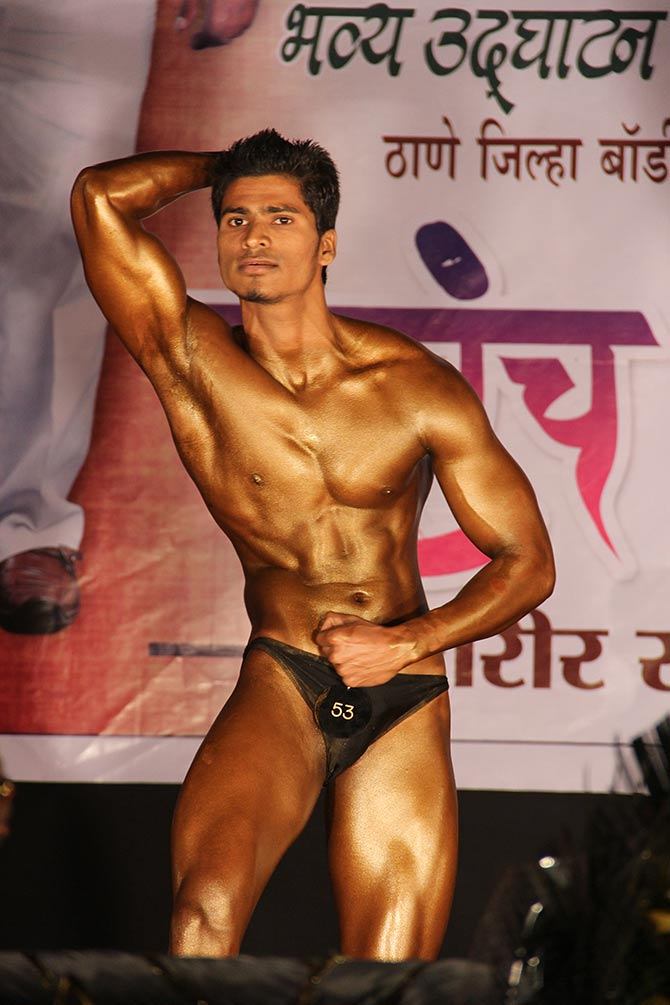 Bodybuilding competition at Vichumbe village