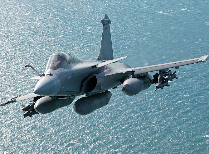 The Rafale fighter aircraft.