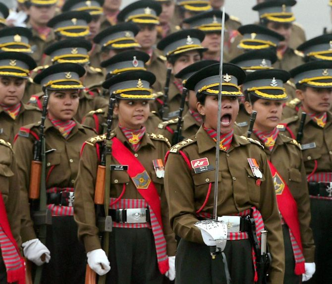 Women soldiers to steal the show at R-Day parade - Rediff com India News