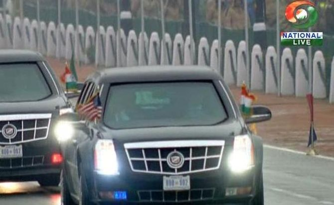 Breaking Tradition Chief Guest Obama Arrives In Beast