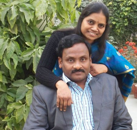 Professor G N Saibaba with his wife Vasantha Kumari