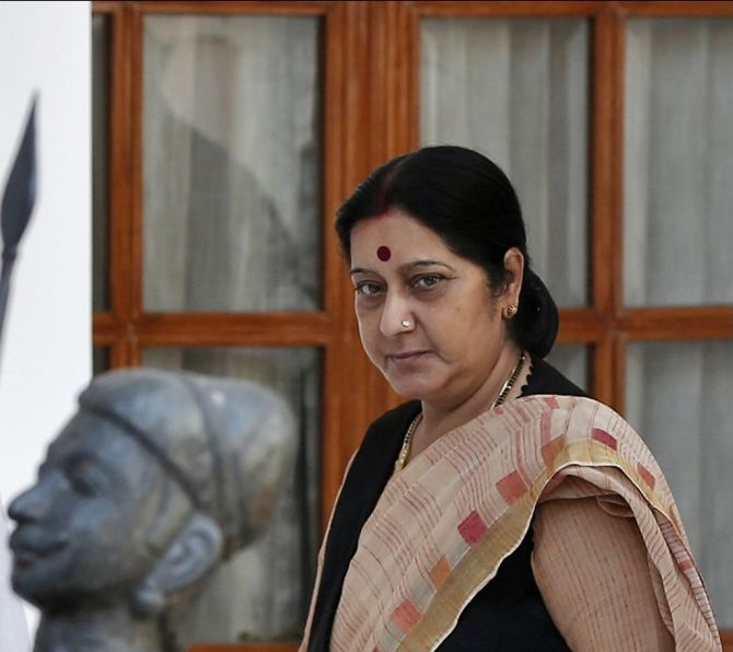 Swaraj leaves for two-day visit to Lanka