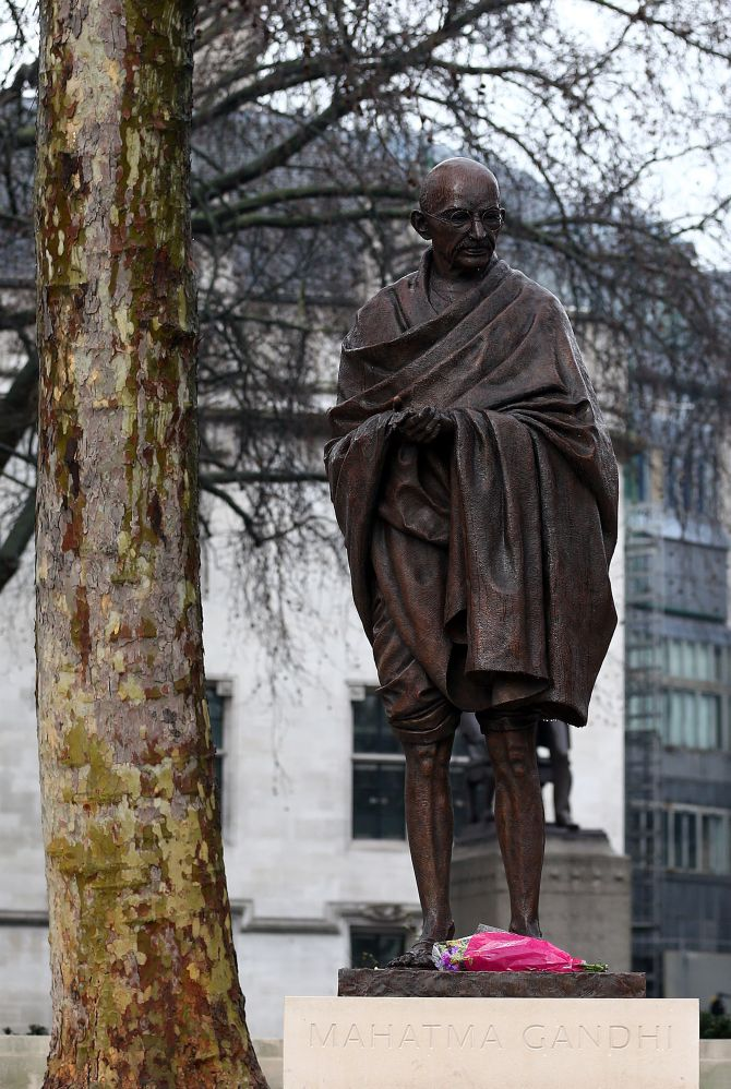 Image result for gandhi statue in london