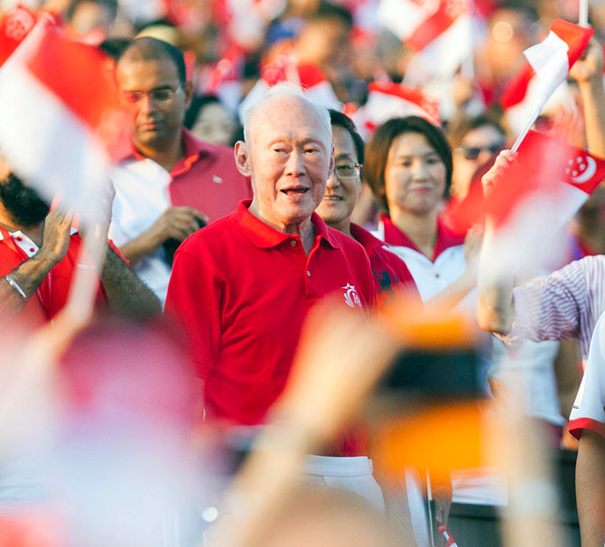 Former Singapore prime minister Lee Kwan Yew