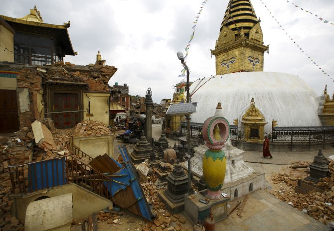 India News - Latest World & Political News - Current News Headlines in India - Nepal quake damages world's oldest Buddhist shrine