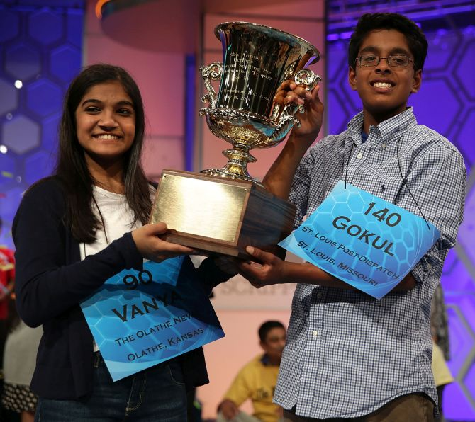 India News - Latest World & Political News - Current News Headlines in India - PHOTOS: Desi kids co-crowned US Spelling Bee champs for second straight year