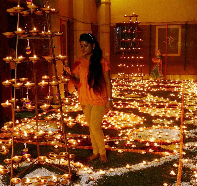 Diwali Lights Up India