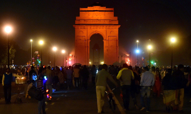 India News - Latest World & Political News - Current News Headlines in India - India Gate goes orange for UN's violence against women