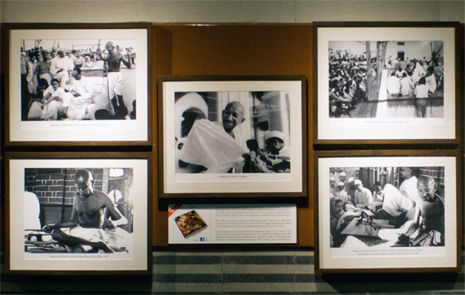 Photos of Gandhiji