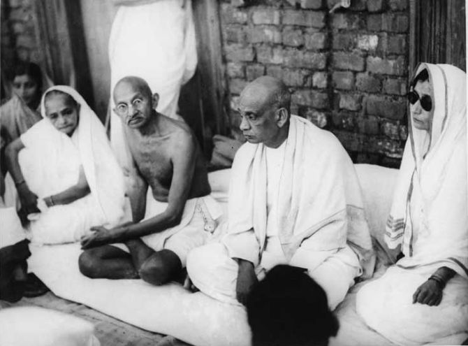 Image result for mahatma gandhi with sardar patel