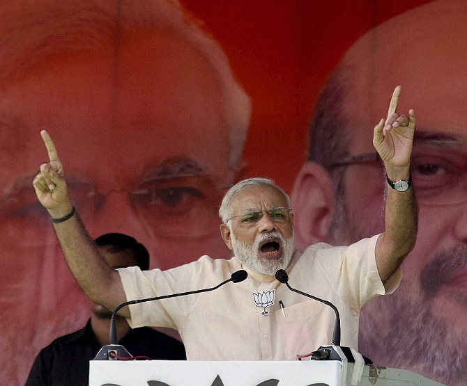 India News - Latest World & Political News - Current News Headlines in India - Lalu will 'remote control' Bihar if grand alliance elected: Modi