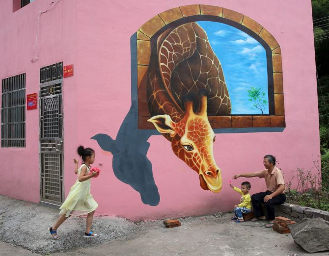 Photos it 39 s an odd odd world out there for 3d mural art in india
