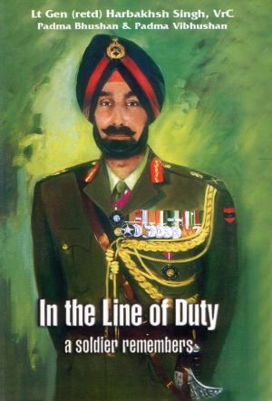 The cover of General Harbakhsh Singh's book