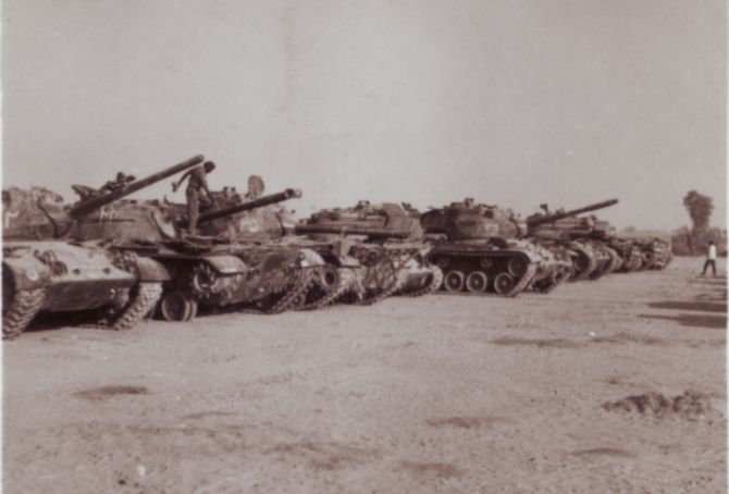 Destroyed Pakistani Patton tanks after the 1965 war