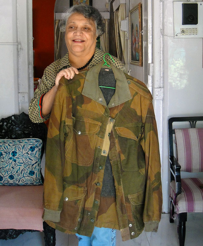 Mrs Boyce with the military jacket