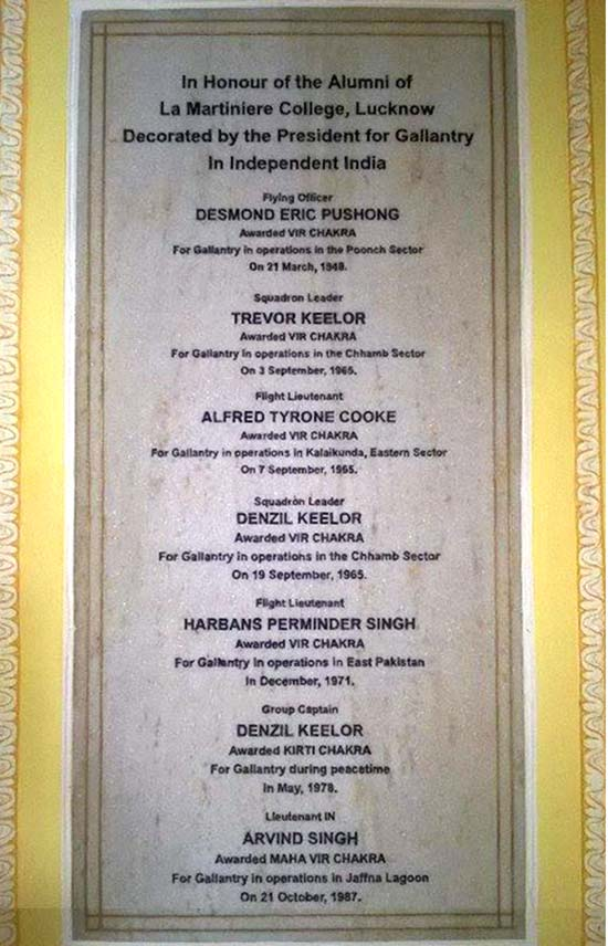 A list of students who gallantry awards for the country