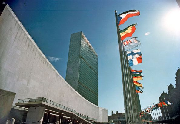 The United Nations headquarters in New York