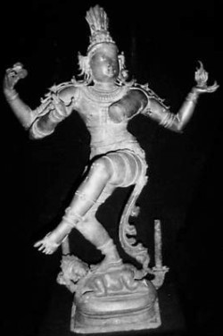 The unrepaired Nataraja stolen from a temple in Tamil Nadu