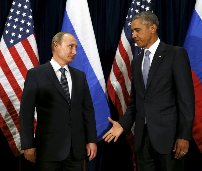 India News - Latest World & Political News - Current News Headlines in India - That's what you call awkward: When Putin met Obama