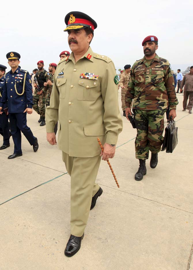 Pakistan army chief General Raheel Sharif