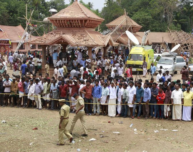India News - Latest World & Political News - Current News Headlines in India - Was Kollam temple granted permission for fireworks?