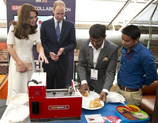 India News - Latest World & Political News - Current News Headlines in India - Learning Braille, making a dosa... All in a day's work for William and Kate