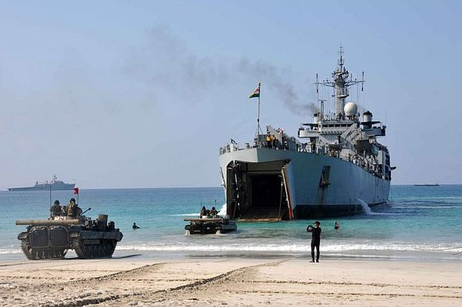 Amphibious training exercise in Andaman and Nicobar islands