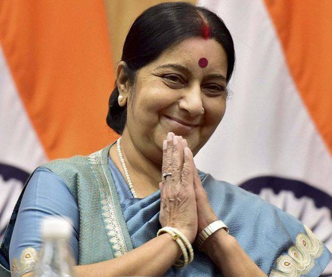 India News - Latest World & Political News - Current News Headlines in India - 'Your wife will be there': Sushma's vow to man forced to travel solo on honeymoon