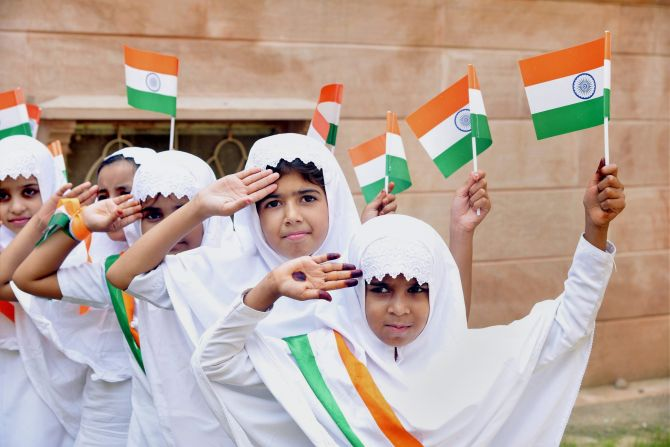 Children celebrate Independence Day