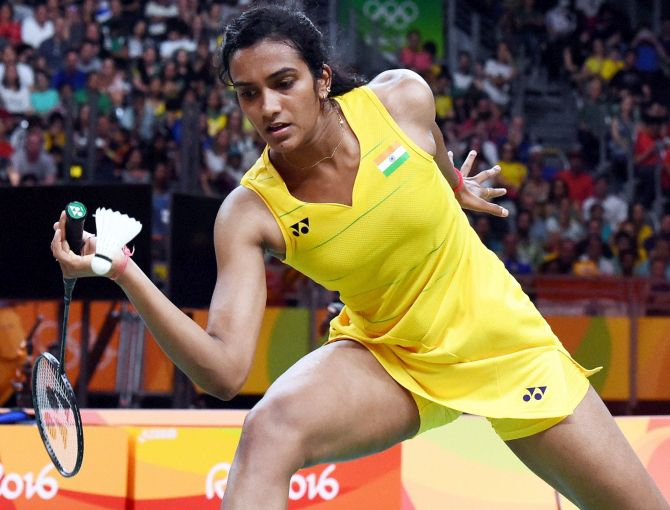Rediff Sports - Cricket, Indian hockey, Tennis, Football, Chess, Golf - Badminton Rankings: Sindhu rises to career-best World No 5