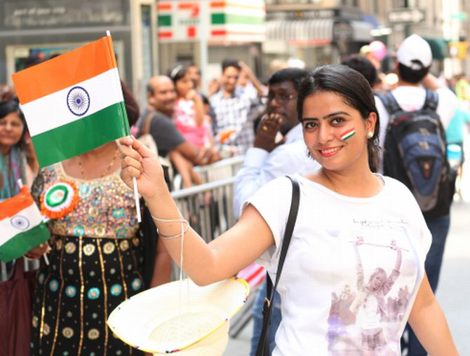 India News - Latest World & Political News - Current News Headlines in India - Band, bajaa and masti: Indians celebrate I-Day in New York