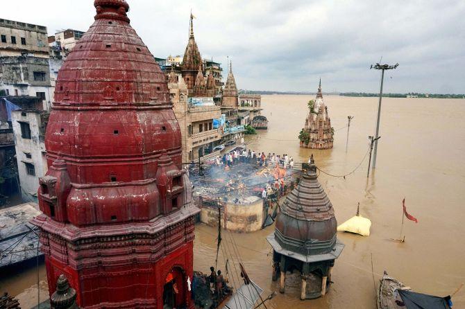 Raging Ganga Yamuna Flood Up Varanasi Allahabad Worst