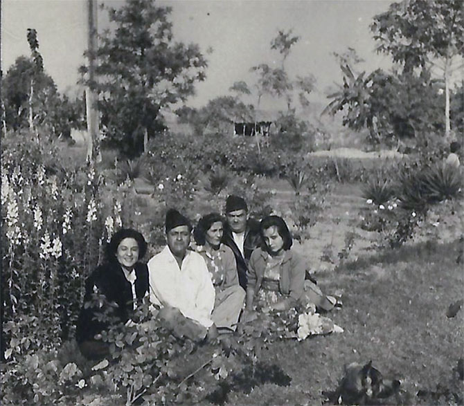 The family in their garden
