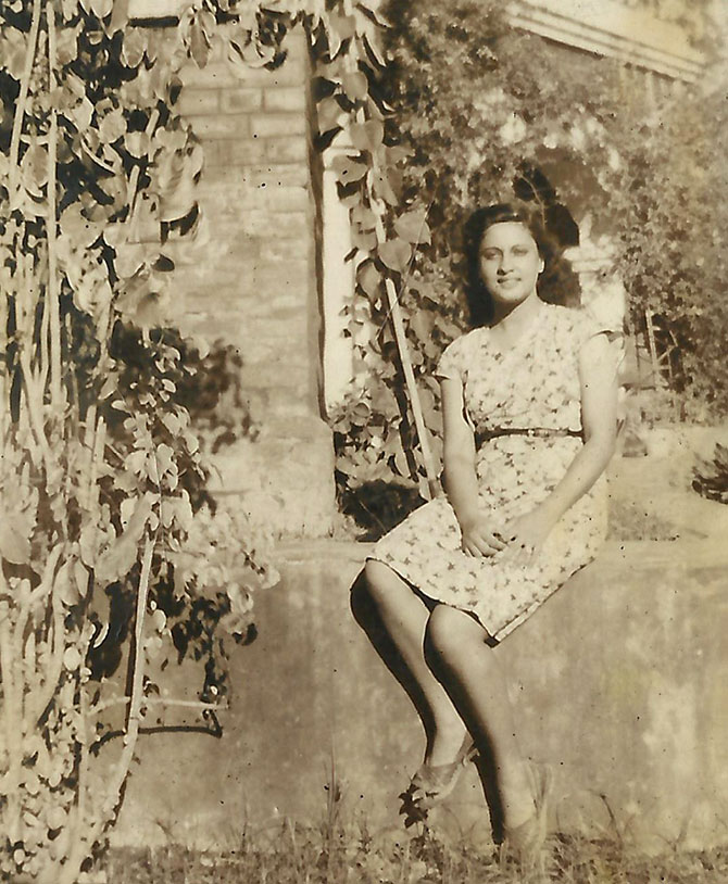 Sylvia Dyer in her home in Dhang