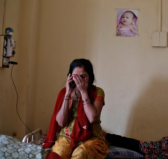 A surrogate mother at a hostel for such mothers in in Anand, Gujarat. Mansi Thapliyal/Reuters