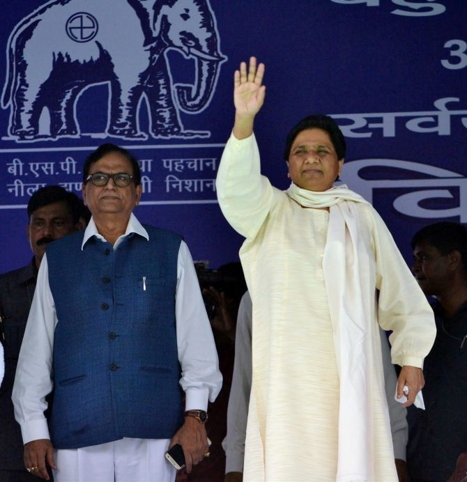 Bahujan Samaj Party leader Mayawati, who is aggressively wooing Muslims this assembly election. The BSP has fielded over 90 BSP Muslim candidates in the 2017 UP election