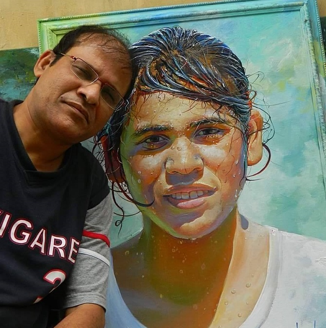 India News - Latest World & Political News - Current News Headlines in India - The train ticket inspector who's an amazing painter