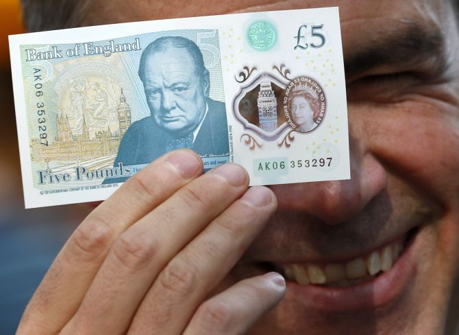 India News - Latest World & Political News - Current News Headlines in India - UK's new five pound bill sparks protest from Hindus