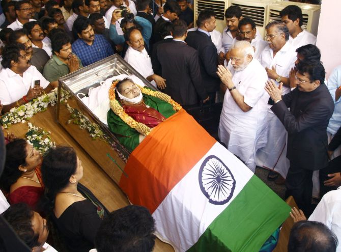 India News - Latest World & Political News - Current News Headlines in India - PHOTOS: PM Modi, other leaders pay tributes to Jayalalithaa
