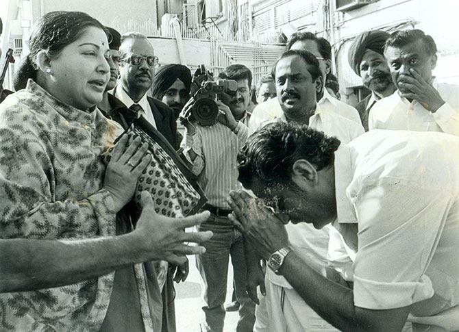 Jayalalithaa soon after she took over the reins of the AIADMK