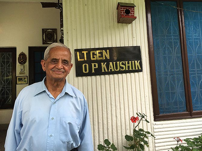 Lt Gen O P Kaushik was a brigade major in the 71 War