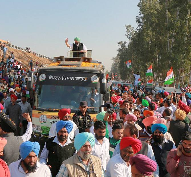Glimpses from roadshow at Sangrur. The mood of the people is clear