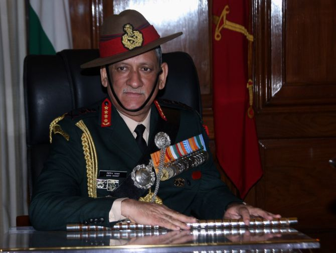 General Bipin Rawat, the new army chief.